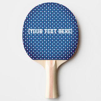 Pala De Ping Pong Estrellas patrióticas azules blancas rojas