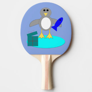 Pala De Ping Pong Felices Navidad que pescan la paleta del ping-pong