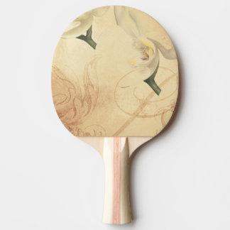 Pala De Ping Pong Fondo de la orquídea del vintage