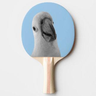 Pala De Ping Pong Foto linda animal blanco y negro del cockatoo