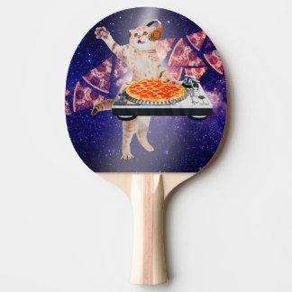Pala De Ping Pong gato de DJ - gato DJ - gato del espacio - pizza