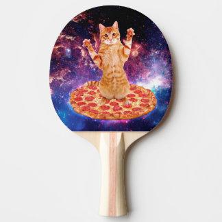 Pala De Ping Pong gato de la pizza - gato anaranjado - espacie el