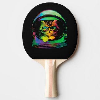 Pala De Ping Pong Gato del inconformista - astronauta del gato -