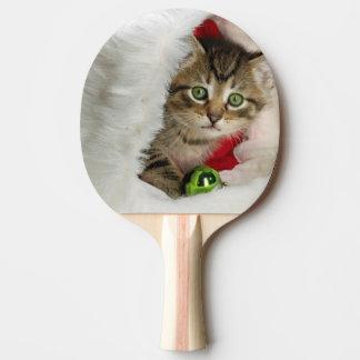 Pala De Ping Pong Gato del navidad - gato del gatito - gatos lindos