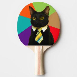 Pala De Ping Pong gato del negocio - gato negro