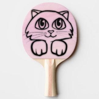 Pala De Ping Pong Gato observado grande lindo que mira a escondidas