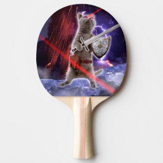 Pala De Ping Pong gatos del guerrero - gato del caballero - laser