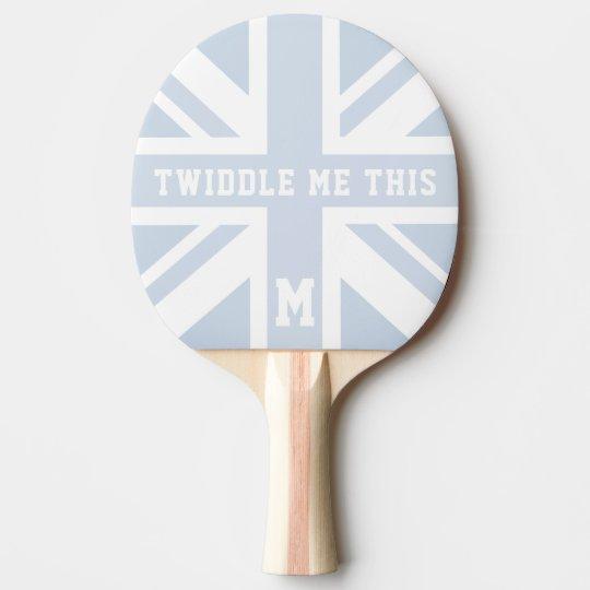 Pala De Ping Pong Gíreme esta paleta BRITÁNICA azul del ping-pong de