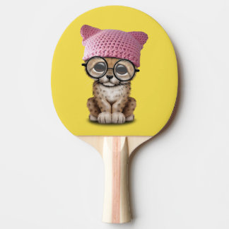 Pala De Ping Pong Gorra del gatito de Cub del guepardo que lleva
