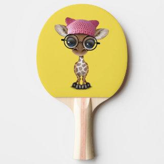 Pala De Ping Pong Gorra del gatito de la jirafa linda del bebé que