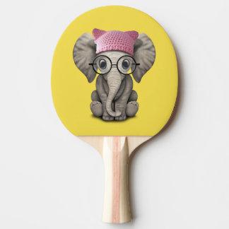Pala De Ping Pong Gorra del gatito del elefante lindo del bebé que