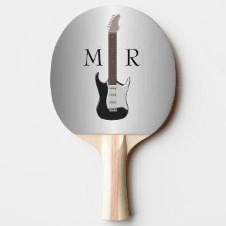Pala De Ping Pong Guitarra eléctrica con monograma
