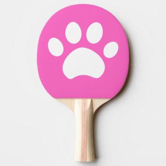 Pala De Ping Pong Impresión de la pata del gato