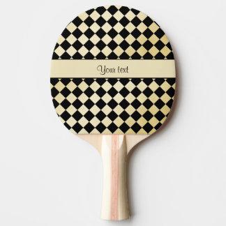 Pala De Ping Pong Inspectores negros y falsos elegantes del oro