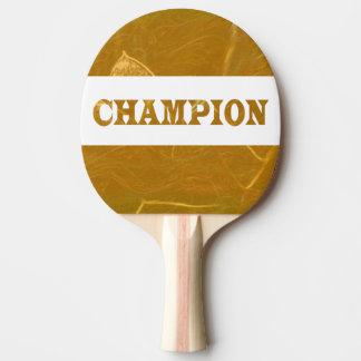 Pala De Ping Pong La parte posterior roja Lotus de oro del caucho