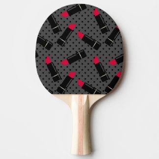 Pala De Ping Pong Lápiz labial retro, rojo