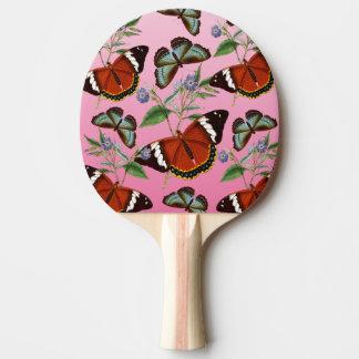 Pala De Ping Pong las mariposas mezclan rosa