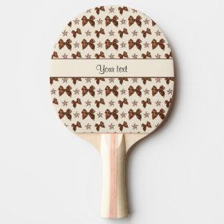 Pala De Ping Pong Lazos de satén hermosos de Brown