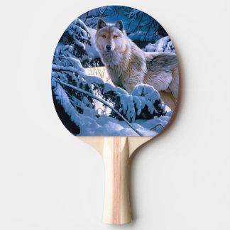 Pala De Ping Pong Lobo ártico - lobo blanco - arte del lobo