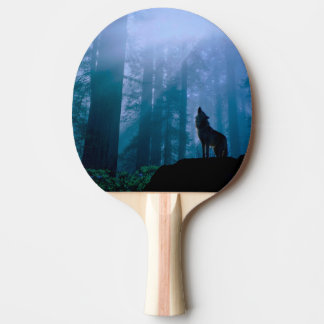 Pala De Ping Pong Lobo del grito - lobo salvaje - lobo del bosque