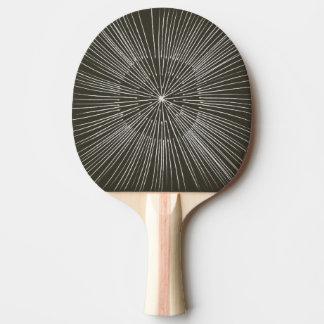 Pala De Ping Pong Los rayos blancos en negro, capas, ping-pong se