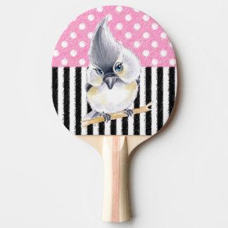 Pala De Ping Pong Lunar rosado del Titmouse