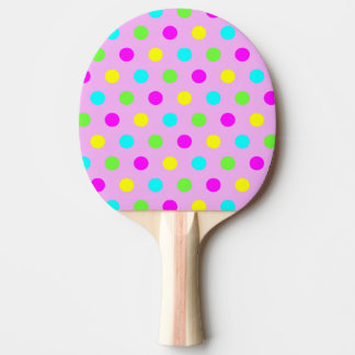 Pala De Ping Pong Lunares coloridos divertidos - paleta del