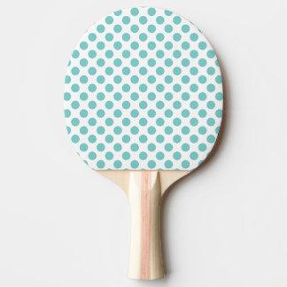 Pala De Ping Pong Lunares de la aguamarina