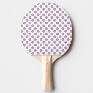 Pala De Ping Pong Lunares de la lila