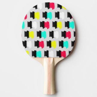 Pala De Ping Pong Lunares pintados retros coloridos del movimiento
