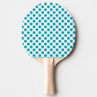 Pala De Ping Pong Lunares profundos de la aguamarina