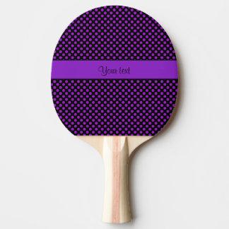 Pala De Ping Pong Lunares púrpuras