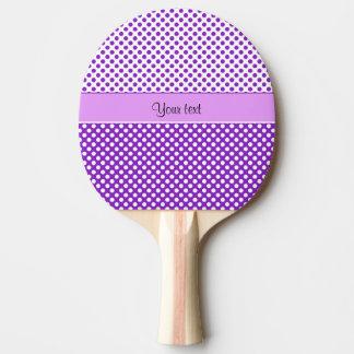 Pala De Ping Pong Lunares púrpuras y blancos