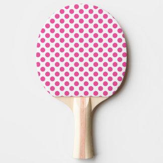 Pala De Ping Pong Lunares rosados