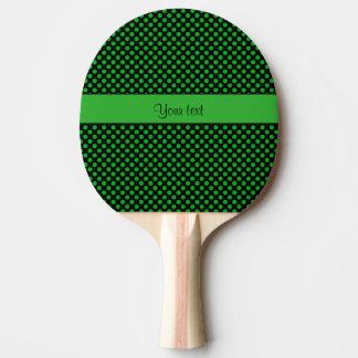 Pala De Ping Pong Lunares verdes