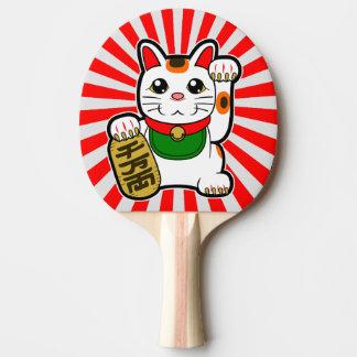 Pala De Ping Pong Maneki Neko: Gato afortunado japonés