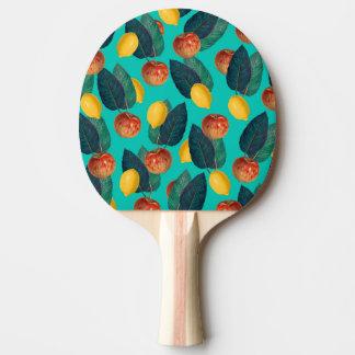 Pala De Ping Pong manzanas y limones verde azulados