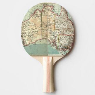Pala De Ping Pong Mapa detallado continente australiano antiguo del
