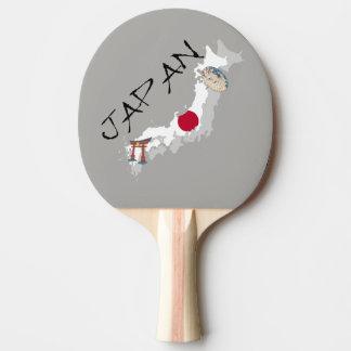 Pala De Ping Pong Mapa y bandera de Japón