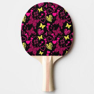 Pala De Ping Pong Mariposas, corazones y notas de la música