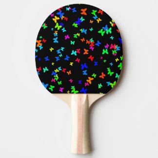 Pala De Ping Pong Mariposas en negro