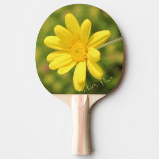 Pala De Ping Pong Mi paleta amarilla afortunada del ping-pong de la