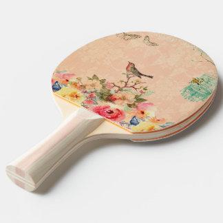 Pala De Ping Pong Moda lamentable, pájaro, mariposa, cordón, floral,