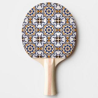 Pala De Ping Pong Modelo amarillo azul de Azulejo del portugués del