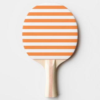 Pala De Ping Pong Modelo anaranjado y blanco de la raya