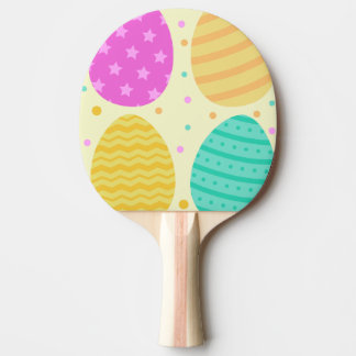 Pala De Ping Pong Modelo colorido lindo de los huevos de Pascua