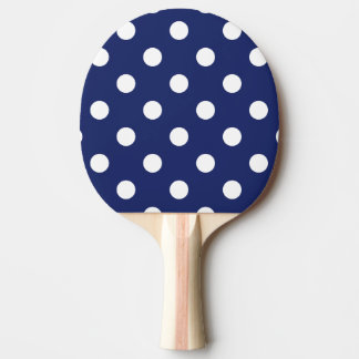 Pala De Ping Pong Modelo de lunar de los azules marinos y del blanco