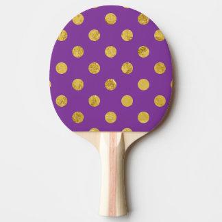 Pala De Ping Pong Modelo de lunar elegante de la hoja de oro -