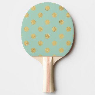 Pala De Ping Pong Modelo de lunar elegante de la hoja de oro - oro