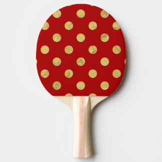 Pala De Ping Pong Modelo de lunar elegante de la hoja de oro - oro y